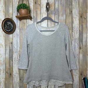 Anthropologie Postmark Metallic Hattie Sweatshirt